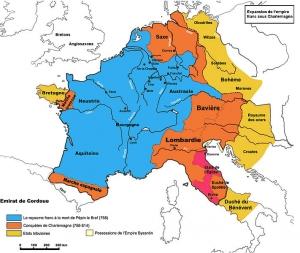 カール大帝時代のフランク王国