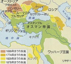 オスマン帝国の失地
