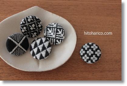 白黒ボタン5