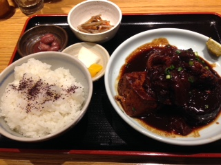 福島屋牛すじ味噌おでん定食