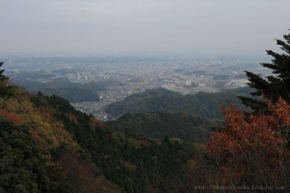 高尾山からの景色ーS-N