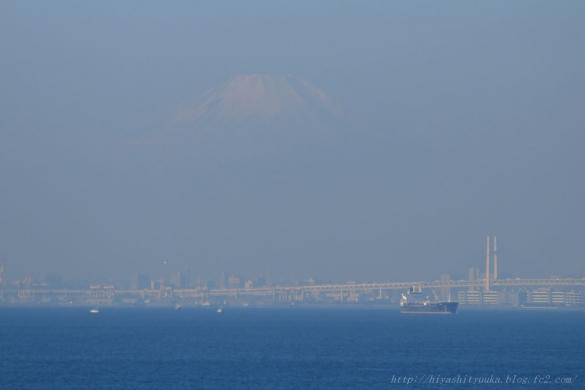 海ほたるから富士山ーSN
