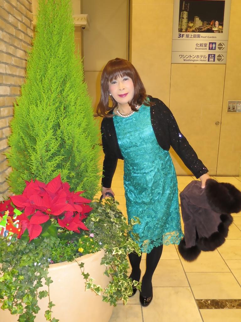 緑レースワンピA(2)