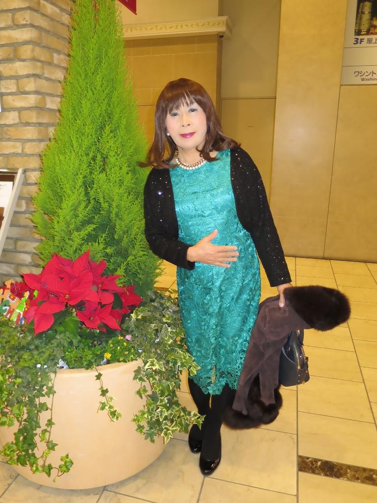 緑レースワンピA(3)