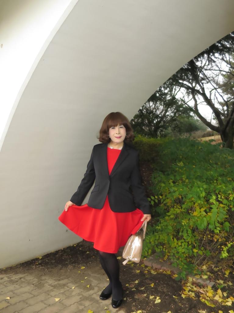 黒ジャケット赤ワンピB(3)