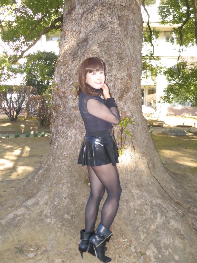 黒シースルートップス(5)