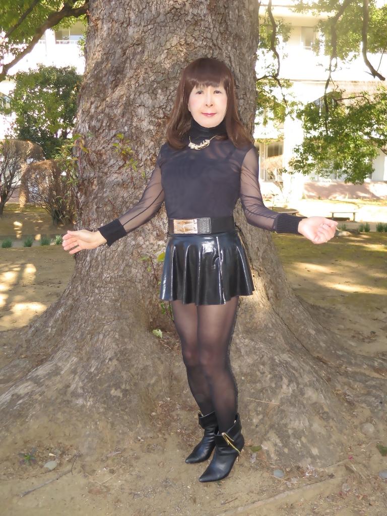 黒シースルートップス(6)