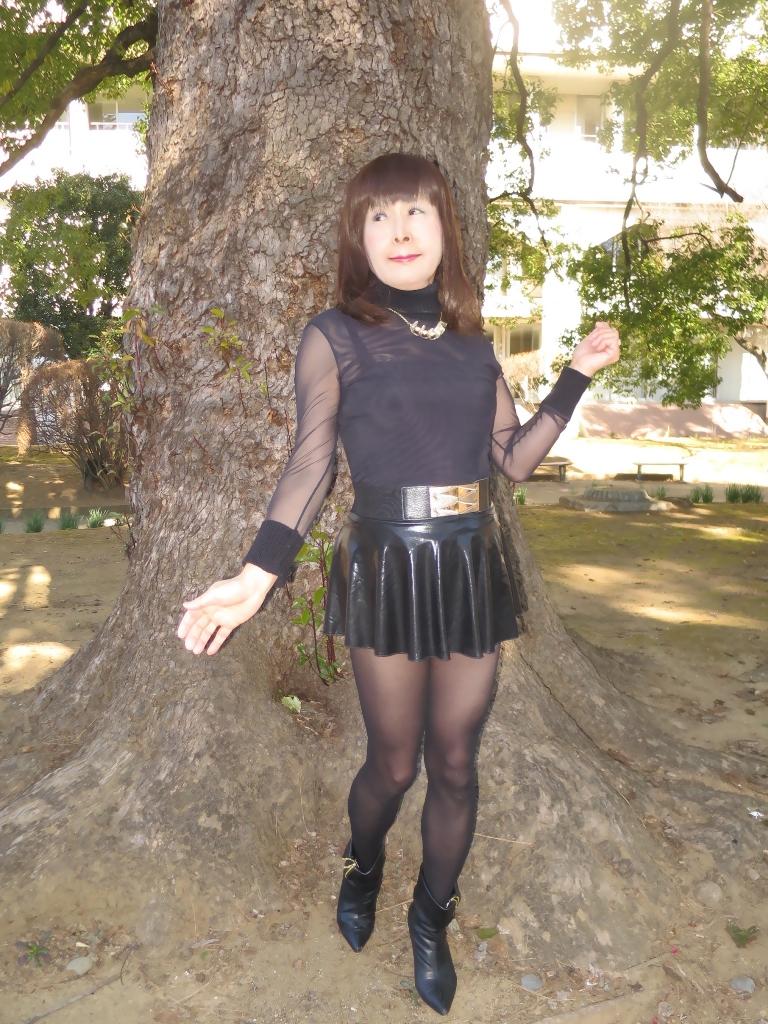 黒シースルートップス(7)