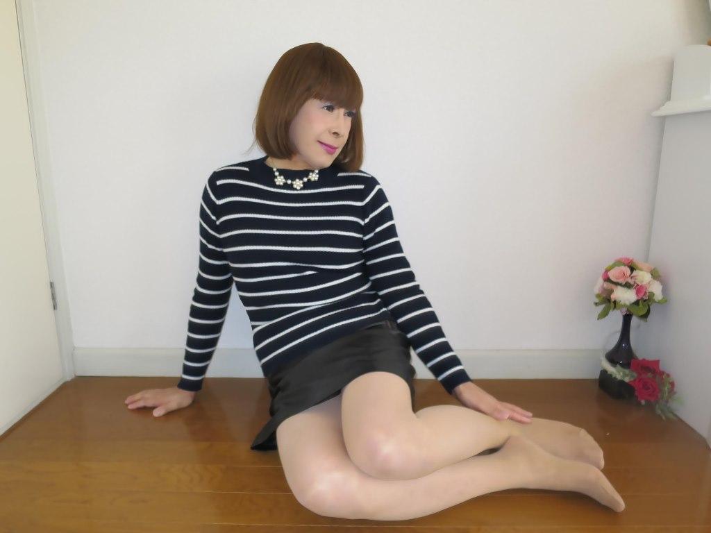 ボーダー柄セーター部屋B(2)