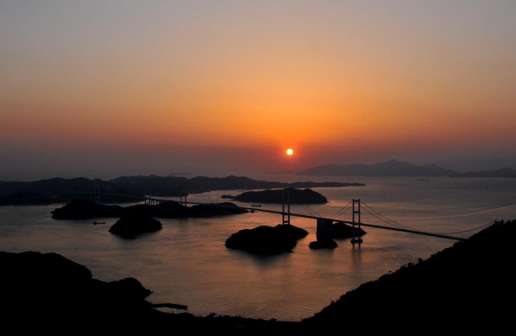 亀老山からの夕景