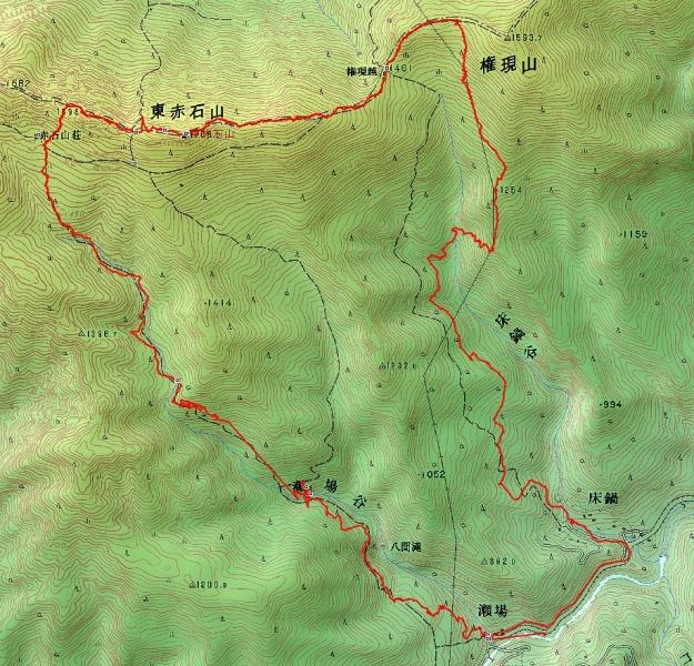 s-東赤石山トレース