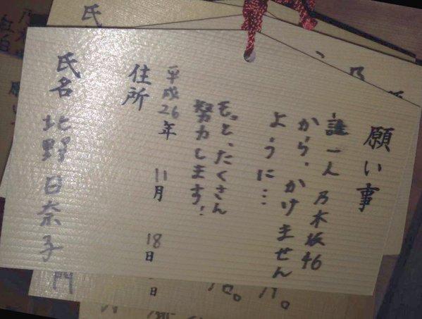 北野日奈子 絵馬