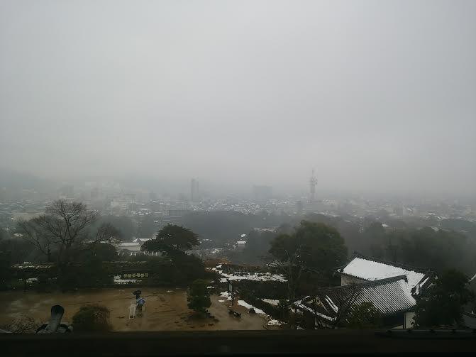 彦根城天守からの景観