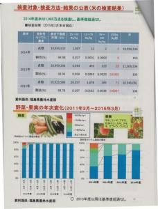 米、野菜、果実の検査結果