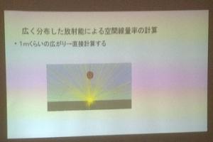放射能による空間線量率の計算①