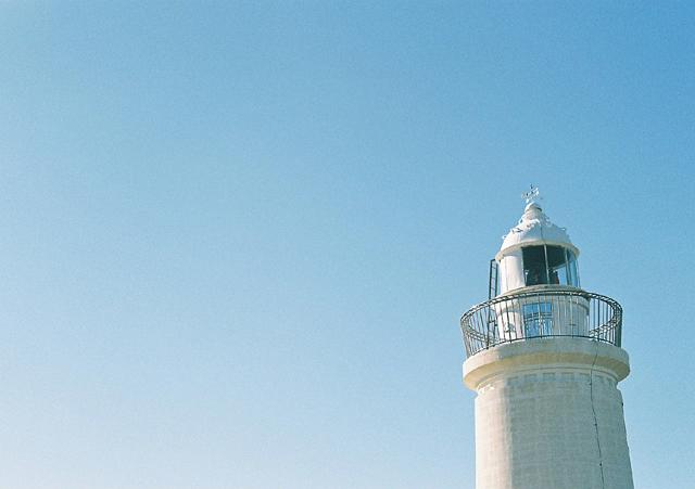 白亜の灯台だよ~ん♪