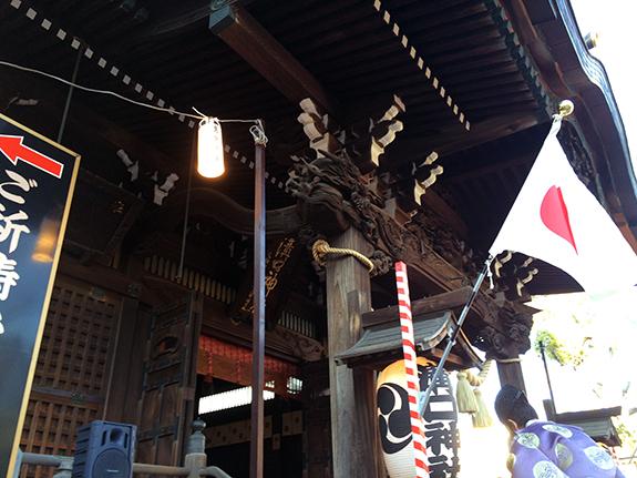 溝口神社神殿 東郷平八郎元帥揮毫