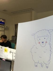 細見画伯 羊