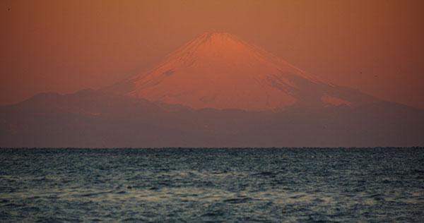 館山からの富士山