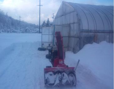 ハウス除雪