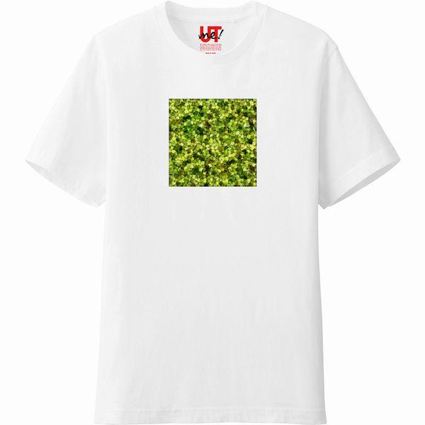 PolyGenPattern_緑_Tシャツ