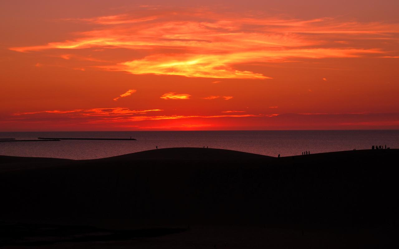 黄昏の砂丘1