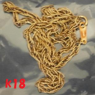 k18 ねじりネックレス