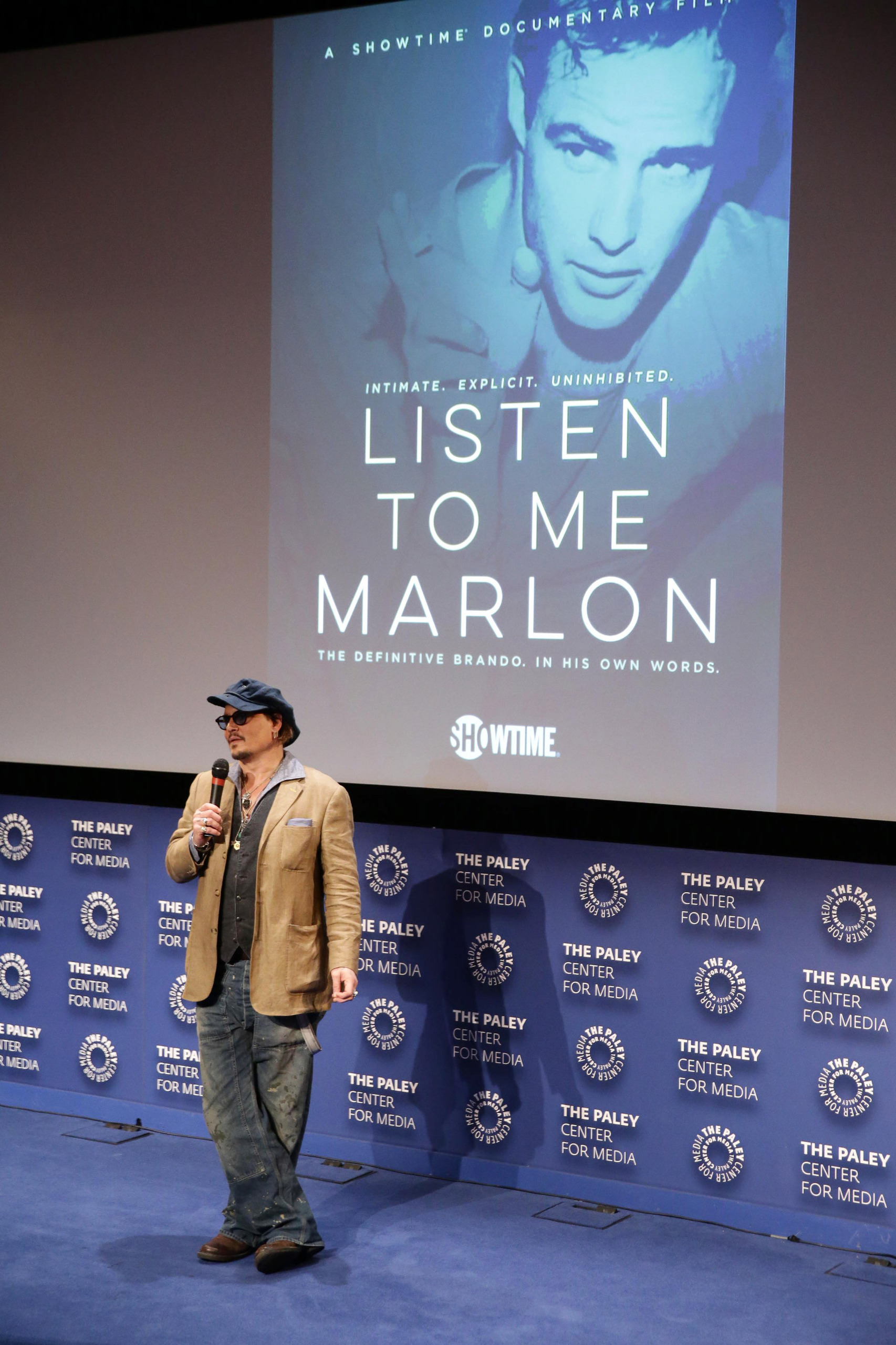 johnny depp at listen to BrandoMovieScreening005