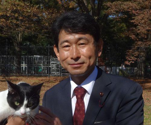 500 猫ジャンヌと渋谷区議会議員 藤井敬夫先生