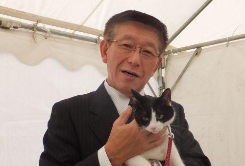 500佐竹知事にお誕生日のお祝いに行きました。