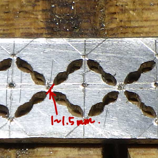非加熱ルビーリングフィレンツェ彫り作成過程12