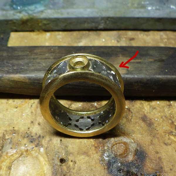 非加熱ルビーリングフィレンツェ彫り作成過程23