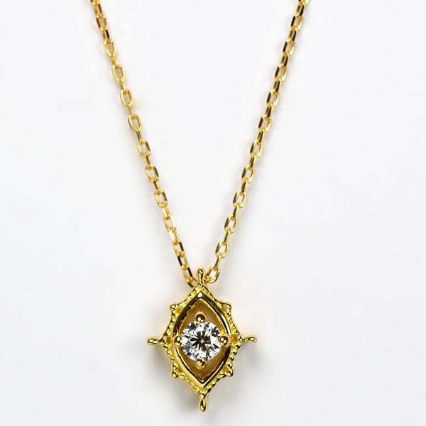 K18イエローゴールドダイアモンドペンダントネックレスD2370.jpg