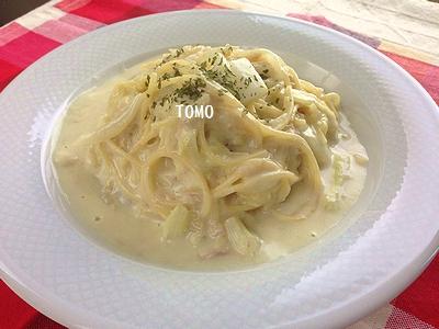 白菜豆乳クリームパスタ1