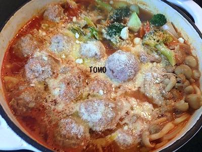 高野豆腐肉団子のトマト鍋2