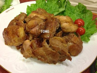 エスニック鶏肉の照り焼き1