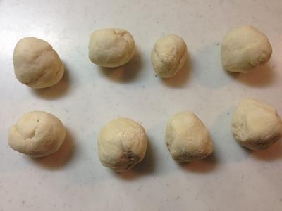 スキレット で 小豆おやき3