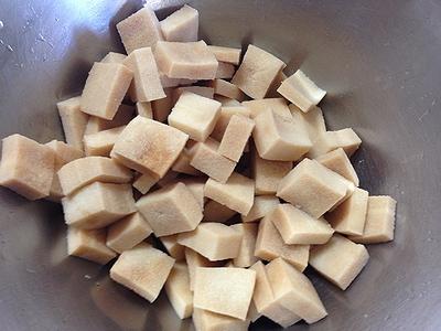 高野豆腐と鶏胸肉の唐揚げ2