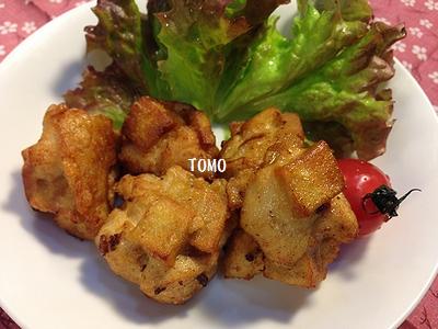 高野豆腐と鶏胸肉の唐揚げ