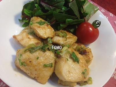 鶏胸肉のネギ味噌生姜炒め