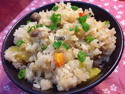 福豆の中華風炊き込みご飯