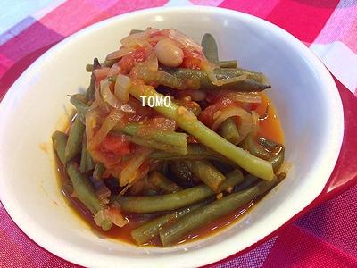 福豆消費&作り置きに!福豆とインゲンのトマト煮