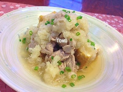 豚肉と厚揚げのおろし煮