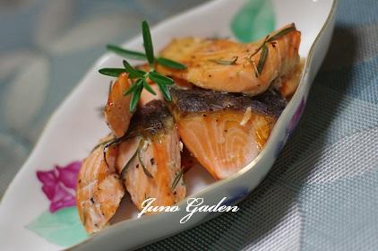 鮭のハーブ焼き160127
