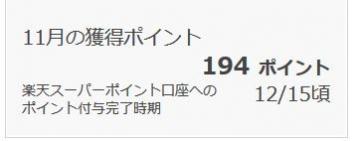楽天リサーチ ポイント履歴 201511