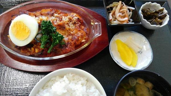 鶏と里芋のグラタン定食