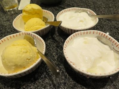 アイスと杏仁豆腐