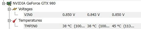 980温度 室温15℃