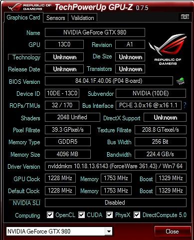 GALAX GF PGTX980-SOC4GD5