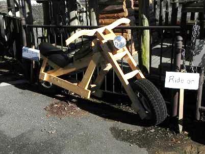 名栗湖カヌー工房のバイク